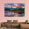 Amazing Sunrise in Grand Teton National Park Multi panel canvas wall art
