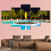 Beautiful tropical swimming pool multi panel canvas wall art