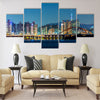 Seoul skyline Multi panel canvas wall art