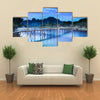 The Nam Sang River Across The Country Bridge, A Tourism Oriented Riverside And Backpacker Paradise, Laos, Multi Panel Canvas Wall Art