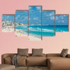 Cancun beach panorama, Mexico multi panel canvas wall art