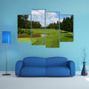 9th hole at Golf course Arboretum in Slovenia multi panel canvas wall art
