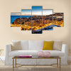 Aerial View on Fontvieille and Monaco Harbor with Luxury Yachts, French Riviera Multi panel canvas wall art