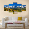 Countryside road, fall season in Colorado Multi panel canvas wall art