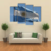 Argentinian Flag Waving In The Air Multi Panel Canvas Wall Art