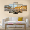 Saint Peter Square and Saint Peter Basilica in the Morning, Vatican City, Rome, Italy Multi panel canvas wall art