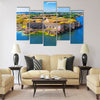 Scenic summer aerial view of Suomenlinna Sveaborg sea fortress Multi panel canvas wall art