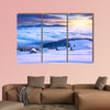 Colorful winter morning in the mountains Mountain valley Pozharska, multi panel canvas wall art