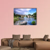 Bridge and river in El barco de Avila, Spain, Multi Panel Canvas Wall Art
