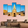 The historic clock tower gate is the main entrance into the old city of Cartagena, Colombia multi panel canvas wall art