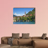 Panoramic view of Cernobbio town multi panel canvas wall art