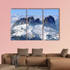 The Ski resort in a snow covered mountain Dolomites, Italy multi panel
