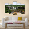 The Iguassu  Falls is one of the largest masses in Paraguay and Argentina Multi panel canvas wall art