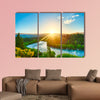 Beautiful sunset over the bend of the river Clutha, New Zealand canvas wall art