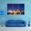 Night time view of the modern part of Cartagena Colombia Multi Panel Canvas Wall Art