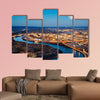 Chattanooga downtown at night as seen from Lookout Mountain multi panel canvas wall art