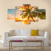 beach on a Caribbean island of Barbados Multi panel canvas wall art