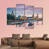 Dresden, Germany above the Elbe River multi panel canvas wall art
