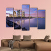 Miami, Florida at South Beach Multi panel canvas wall art