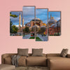 Hagia Sofia church in Istanbul, Constantinople, Turkey multi panel canvas wall art