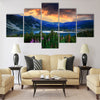 bulgarian circus lake in Rila mountain Multi panel canvas wall art