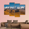 Peaks of the Himalayas poke through the beautiful natural landscape multi panel canvas wall art