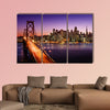 San Francisco skyline and Bay Bridge at sunset, California canvas wall art