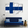 Finland national flag background texture Multi Panel Canvas Wall Art