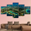 Highly detailed Earth, illuminated by moonlight multi panel canvas wall art