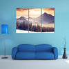 Most beautiful view of Fantastic evening winter landscape multi panel canvas wall art