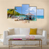 A Small Warf In The Carribean Island In Columbia,Multi Panel Canvas Wall Art