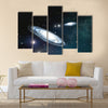 View of the galaxy through the nebulae Multi Panel Canvas Wall Art