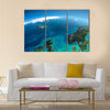 Highly detailed planet Earth in the morning Multi Panel Canvas Wall Art