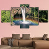 Hawaii Rainbow Falls Multi panel canvas wall art