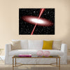 Quasar red vector Multi Panel Canvas Wall Art