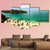 The beautiful islands in the sea and beach, Thailand multi panel canvas wall art