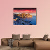 Colorful summer sunrise on the sea Royal bay, Novy Svet, Cremea multi panel canvas wall art