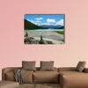 Lake Louise mountain lake with Chateau Lake Louise at background, wall art