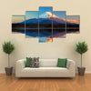 Mount Fuji and Lake Shoji multi panel canvas wall art