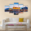 Acropolis in Athens, Greece in the evening after sunset Multi Panel Canvas Wall Art