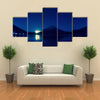inverted image of Mount Fuji at night multi panel canvas wall art