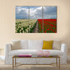 Agriculture with flowers in spring Multi panel canvas wall art