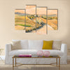 Country landscape with typical Tuscan hills Multi Panel Canvas Wall Art
