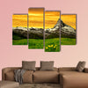 Matterhorn in the sunset at Swiss Alps multi panel canvas wall art