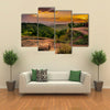 Evening view with Church of St George in Lalibela, Ethiopia multi panel canvas wall art