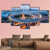 Beautiful Nanpu Bridge at dusk, crosses Huangpu River, shanghai multi panel canvas wall art