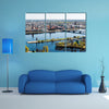 Panorama of Riga city Latvia multi panel canvas wall art