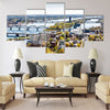 Amazing Panorama of Riga city Latvia Multi panel canvas wall art