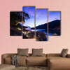 Sunrise in the sea, twilight with mountain Multi panel canvas wall art