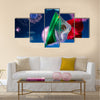 Mexican Flags with dramatic lighting Multi panel canvas wall art